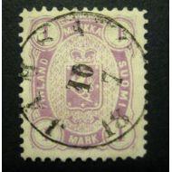 1882 Leimap. 1 mk kaunis leima J�MS� 10  7 18??