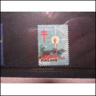 TUB JOULUMERKKI 1963 KUUSENKYNTTIL� WENDELIN ** (A877)
