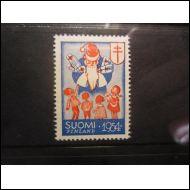 TUB JOULUMERKKI 1954 JOULUPUKKI ** (A885)