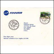Ensilentokuori Finnair Helsinki - Los Angeles 16.5.1981