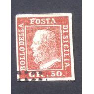 Sisilia 1859, Mi nro 7, 50 Gr, Michel 5.000� Katso kohteeni.
