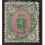 1885 5 mk leimattuna Lape 360�