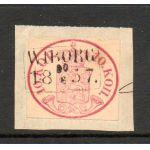 1856 10 kop ovaali LOISTO Wiborg 1857 !!!