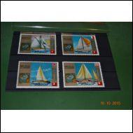 Guinea Ecuatorial purjeveneitä 7 kpl merkkejä **