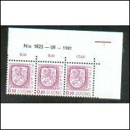 Numero kuusilo  malli  1975   ** (vain 3 rivi)