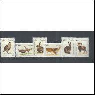 Puola Mi  3019-24** Metsän eläimiä