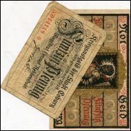 SETELIT,SAKSA,NOTGELD,STADT COBURG,1918/19,2 KPL(18285)