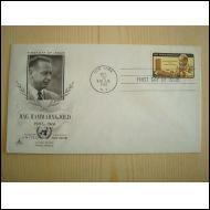 Dag Hammarskjöld 1905-1961 United Nations YK 1962 FDC USA