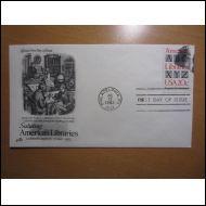 USA FDC 1982 KIRJASTO KUVAKUORI (H515)