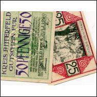 SETELIT,SAKSA,NOTGELD v 1920,2 KPL,STADT BITTERFELD(18765)