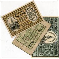 SETELIT,SAKSA,NOTGELD,3 KPL;STADT RATZHUTTE(18762)