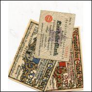 SETELIT,SAKSA,NOTGELD,4 KPL,STADT SULZ(18834)