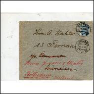 VENÄJÄ, LAIVAPOSTI KUORI MERKILLÄ 19.8 1909 HOLLANTIIN(19194