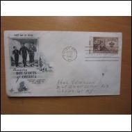 USA FDC 1950 PARTIO SCOUT KOMEA KUVAKUORI (S100)