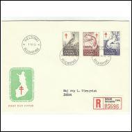 FDC 1.10.1962 tuberkuloosivuosisarja.