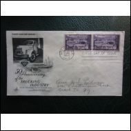 USA FDC 1953 TRCKING INST. KUORMA-AUTO KUVA KUORI (O177)