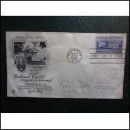 USA FDC 1950 WASHINGTON CAPITAL KUVA KUORI (O184)