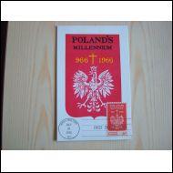 Poland´s Millenium 966-1966 USA ensipäiväkortti hieno FDC