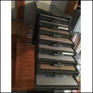 Kardex -arkistolaatikosto korteille, valokuville yms.