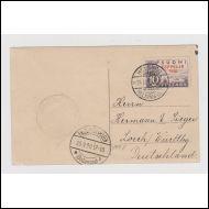 1930  Zeppelin-merkki. kauniilla KORTILLA Saksaan