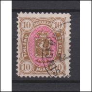 1885 Vaakunamerkkien  10 mk  ERITTÄIN KAUNIS  (Norma 550€))