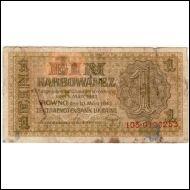 Saksa. Reich Commissariat Ukraina, 1 Karbowanez, 1942; R !