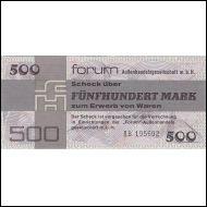0342. DDR FORUM 500 MK 1979 P-FX7 UNC AA769762