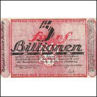 0117. GERMANY 5 BILLIONEN MK 1923 ARHEIN