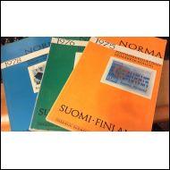 Norma 1975, 1976, 1978 -postimerkkiluettelot