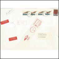 M-75 kirjattu pikakirje, Kouvola10 12.9.88 & R-leima, Frank.