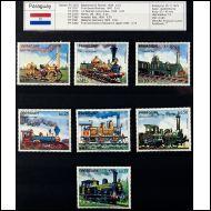 Junia,  rautatiet, Paraguay 1972 sarja  xx