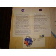 Pioneer Jupiter FDC 1975 USA Nasa kirjeillä harvinainen