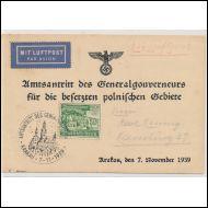 REICH-KORTTI 1939 ILMAPOSTITTEENA  / ERIKOISLEIMALLA