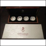CHINA 2008 BEIJING OLYMPICS SILVER PROOF COIN SET 2nd SERIE