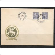 m/54 5 mk leijona HARVINAINEN FDC 1.7.1954 !!!
