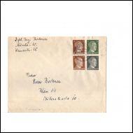 Aatu merkit vihkosta ,Saksasta -Itävaltaan kuorella v1942