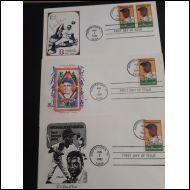 USA 1982 - Baseballpelaaja Jackie Robinson, 3eril FDC