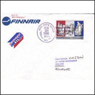 USA:sta kirje Suomeen, armeijan postileimalla (APO) 1990