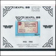 POSTITUORE MEKSIKO Mexfil85 BL28 ** (Mi 3,20e)