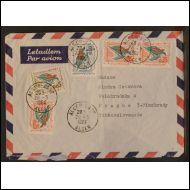 Algeria - Kirje lentopostissa Tsekkoslovakiaan - 1961.