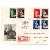 FDC 1941 Mannerheim Lohja 31 XII 41