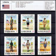 partio, jamboree, Liberia 1971 sarjaa leimattua