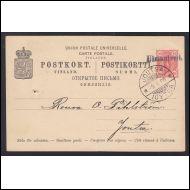 postipysäkkileima - Uimaniemi - 9. tammikuuta 1900