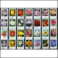 Kukkia, Flowers, Saksa lähes koko sarja, 28 kpl Leimattuja