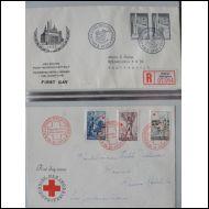 SUOMI LAPE FDC-kuorikansio 128 erilaista 1955-1978