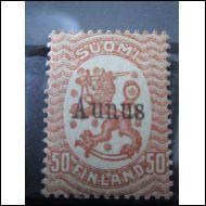 1919 Aunus 50 pen * Aitoutusleima(?) + omistajaleimoja