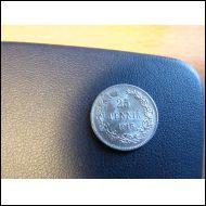 25 penniä 1916. Hieno hopea raha.