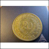 20 markkaa 1939.
