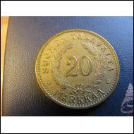20 markkaa 1938.