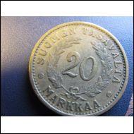 20 markkaa 1934.